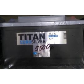 TITAN EUROSILVER 6СТ-74.0 VL низкий